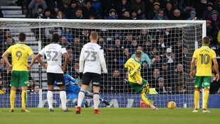 James Maddison scores from the spot