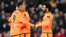 Salah and Firmino of Liverpool