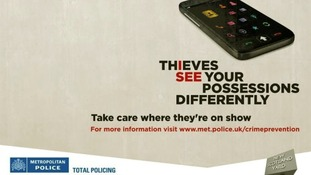 A poster released by the Met Police as part of their anti-theft campaign.