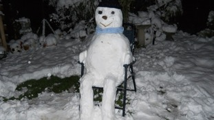 Snowman 'chilling out'