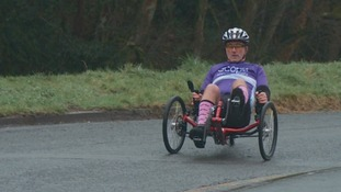 Steve Walford on his trike