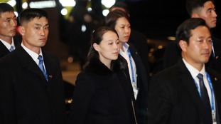 Kim Jong-un's sister in Seoul Kim Yo-jong (C), the sister of North Korean leader Kim Jong-un, enters a hotel in Seoul on Feb. 9, 2018.