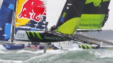 Catamarans in action