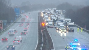 Delays on M5 following three serious incidents