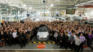 50,000th Aston Martin and the team that built it in Gaydon
