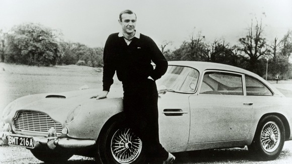 Sean Connery with the DB5, made famous by the James Bond films