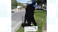Hampshire town marks WW1 centenary with Silent Soldiers
