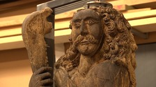 !7th century statue Samson