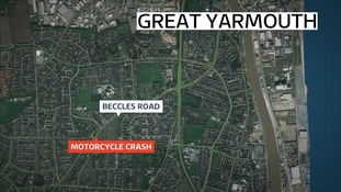 The crash happened on Beccles Road