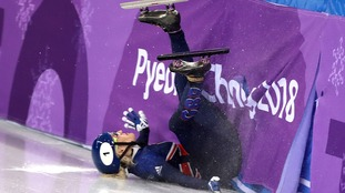 Elise Christie said she only had winning on her mind before she crashed out.