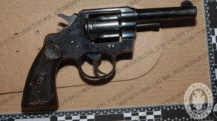 The gun was recovered by police