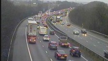 Delays on M4 Westbound due to accident