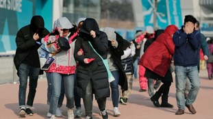 Pyeongchang 2018: Olympic Park evacuated and events postponed as wind plays havoc
