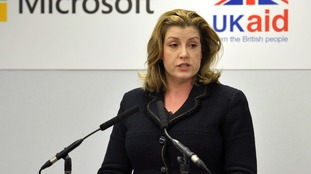 Penny Mordaunt has repeated her threat to Oxfam over funding.