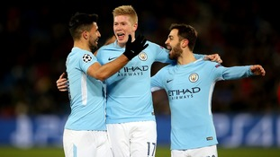 Man City celebrate another goal