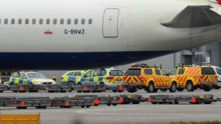 Man dies after vehicles crash on airfield at Heathrow Airport
