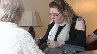 Lindsey Broomhead is learning to walk again.