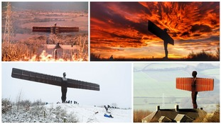 Pictures of the statue of the Angel of the North