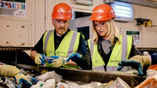 Helen visited the Veolia UK waste recycling plant in London