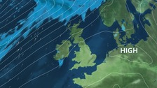 High pressure edges in from the south for the weekend - mainly dry
