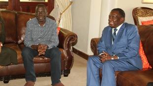 Morgan Tsvangirai Emmerson Mnangagwa.