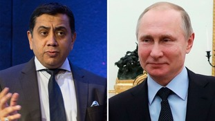 Lord Ahmad (left) has said Russia was responsible for a cyber-attack on Ukraine.