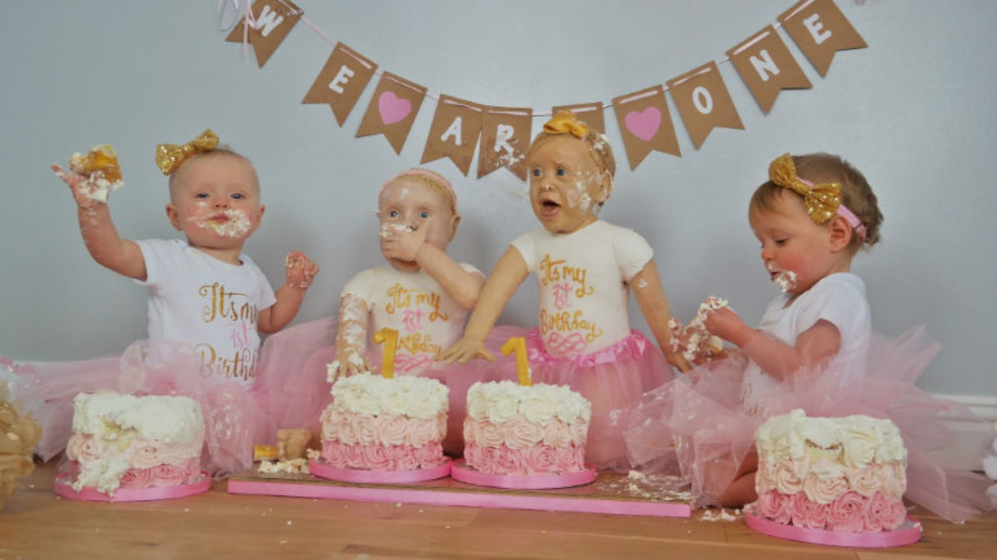 Life Size Cakes Made For Twins First Birthday Central