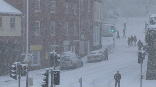 The Met Office recorded snow depth of 8cm in Norfolk and Norwich was brought to a standstill.