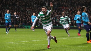 Callum McGregor slammed home to give Celtic a narrow win over Zenit in a feisty Europa League affair