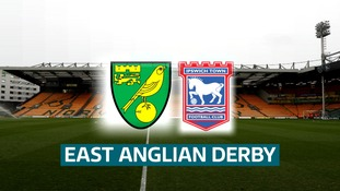Norwich City and Ipswich Town will renew rivalries on Sunday.