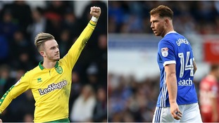 James Maddison (left) and Joe Garner (right) will be hoping to make the difference at Carrow Road.