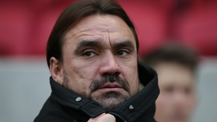 Norwich's Daniel Farke enjoyed his first taste of the East Anglian derby back in October.