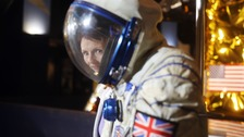 Britain's first astronaut receives honour from Queen