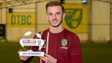 James Maddison has won the Sky Bet Championship Goal of the Month award for his goal against Brentford
