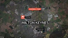 The attack took place in Campbell Park in Milton Keynes