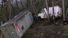 Fresh landslip in Ystalyfera - in the same spot as previous landslide