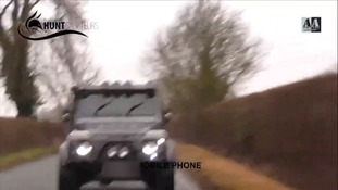 The hunt protestors claim they were pursued by hunt supporters after the incident
