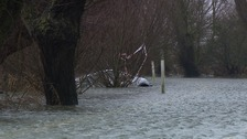 Submerged car at Welney in Norfolk