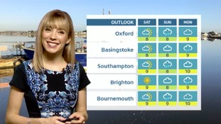 Saturday's forecast for the west of the region