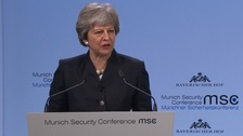 Theresa May warns Brexit must not jeopardise security in Europe