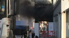 Serious blaze at central London building site 'under control'