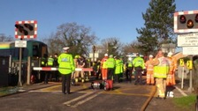 Two members of same family killed in level crossing crash