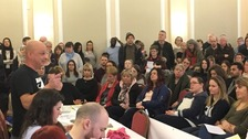 More than 200 people attended the public meeting