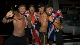 British team set record in fundraising pedal across the Atlantic
