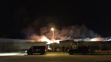 The fire at Drurys in North Walsham