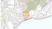 IDP Proposals Map shows potential Les Bas Courtil housing site in red