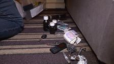 Items found during a drug raid