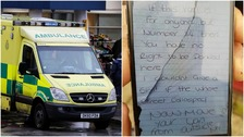 Paramedics left angry note while responding to 999 call