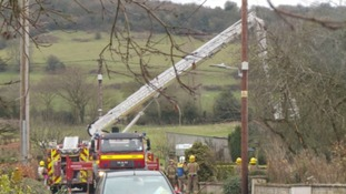 Man rescued from house fire by neighbour in Gloucestershire