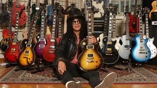Slash is known for using Gibson guitars.